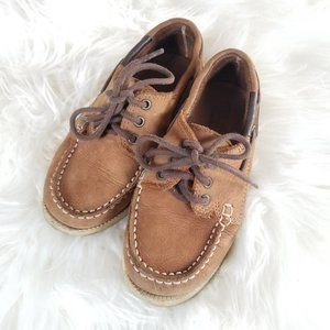Zara Boys   Loafers Leather Boat Shoes 27/10.5